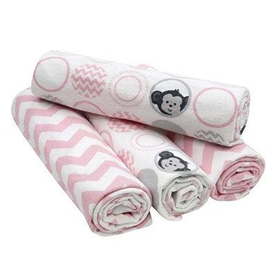 Bedtime Originals Pinkie 4 Piece Flannel Blanket
