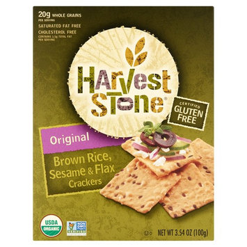 Harvest Stone Original Brown Rice, Sesame & Flax Crackers, 3.54 oz, 6 pack