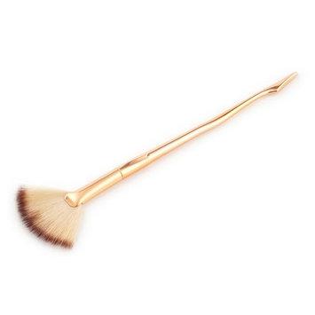 Ecurson 1 Pc Legs Makeup Small Fan Goat Hair Blush Face Powder Foundation Cosmetic Brush (G
