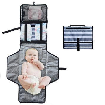 Portable Diaper Changing Pad - YITUOOW Waterproof Travel Changing Pad,Baby Diaper Changing Mat ,Foldable Changing Station With Wipes Case,Lightweight Travel Mat Station Diaper Bag for Infants Toddlers