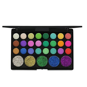 Makeupstore POPFEEL 29 color Waterproof and Long-Lasting Shimmer Glitter Eye Shadow Powder Matte blend Palette Cosmetic Kit,Perfect for Salon Personal,Wedding Party