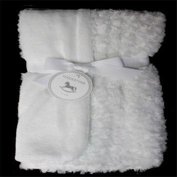 Rose Textile 1791 Curly Plush Blanket White