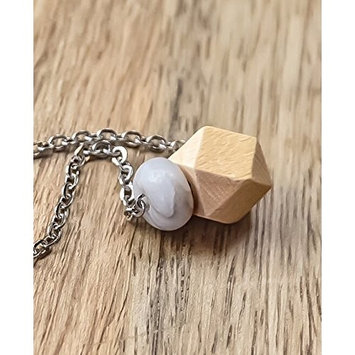 Minimalist Diffuser Necklace For Essential Oils Materials: Stainless, Wood Bead, Agate Aromatherapy Jewelry
