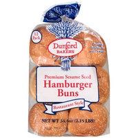 Dunford Bakers Premium Sesame Seed Hamburger Buns, 12 count, 34.4 oz