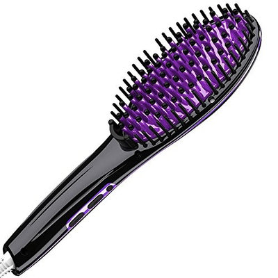 Calily Heated Hair Straightening Brush - Extremely Fast and Easy Hair Straightener - Get the Perfect Hairstyle in Minutes [UPGRADED VERSION]