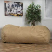 Noble House Lansden Faux Suede 8 Foot Lounger Bean Bag