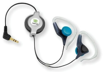 Emerge Technologies Inc Retractable Stereo Earbuds With Clips ETAUDIOEW