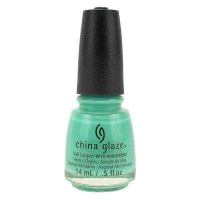 China Glaze Clay Lacquer Salon Nail Polish TOO YACHT TO HANDLE Light Green 81323