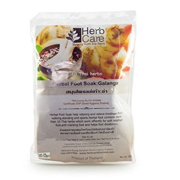 Therapeutic Foot Soak: Galanga Moisturizing Organic Herbal Blend Relief for Dry Cracked Heels, Callused Feet, Athletes Foot