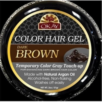 OKAY Color Hair Gel Dark Brown - 59 ml - 2 oz - 6 pieces