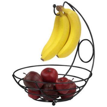 HDS Trading FB44277 Fruit Basket With Banana Tree - Black