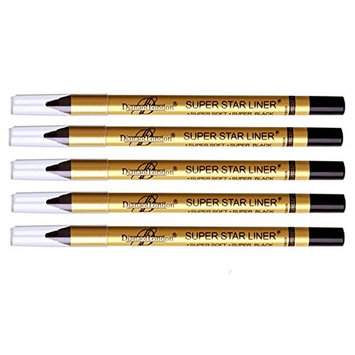 5 Pc Diana of london super star black eyeliner single stroke smudge proof, long stay ( Sealed with latest stock)