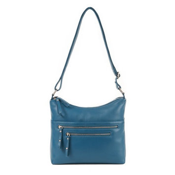 GAL Double Entry Zip Handbag - Deep Lake