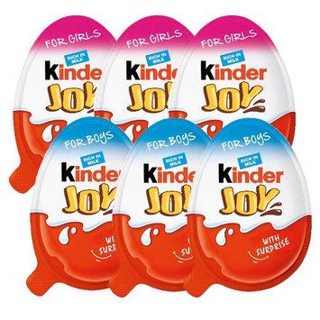 Chocolate Kinder Joy 3-Girls & 3-Boys with Surprise Inside (6-Total)