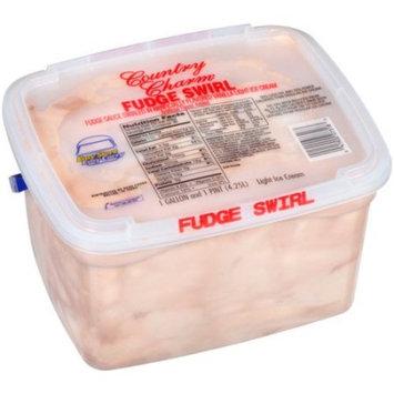 Country Charm Fudge Swirl Light Ice Cream, 4.25 lb