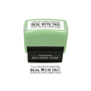 Deal with This Self-inking Office Stamp novelty gag gift By Knock Knock