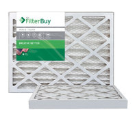 AFB Silver MERV 8 14x25x2 Pleated AC Furnace Air Filter. Filters. 100% produced in the USA. (Pack of 2)