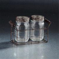 Diamond Star 94021 8, 5 x 3.5 x 5.5 in. Glass Jar with Lid Set, Clear
