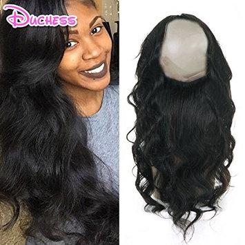 8A Brazilian Body Wave 360 Lace Frontal Closure 16inch Human Hair Lace Band Frontal Closure With Baby Hair Natural Black