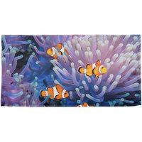 Clownfish Sea Anemone All Over Beach Towel