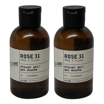 Le Labo Rose 31 Shower Gel lot of 2 each 3oz bottles. Total of 6oz