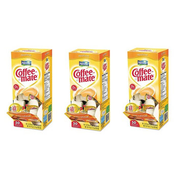 Nestle Coffee-mate Liquid Creamer Singles, Hazelnut (50 ct.) (Pack of 3)