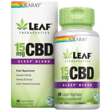 CBD 15mg Sleep Blend 15MG (30 Liquid Caps) by Solaray at the Vitamin Shoppe