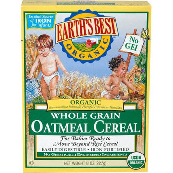Hain Celestial Earth's Best Organic Whole Grain Oatmeal Cereal, 8 oz, (Pack of 6)