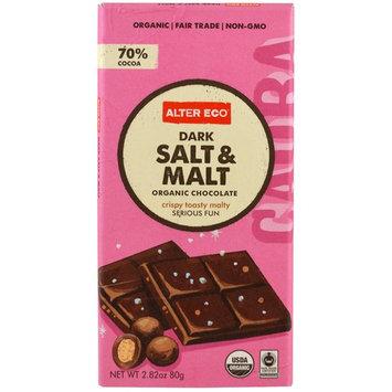 Alter Eco, Organic Chocolate, Dark Salt & Malt, 2.82 oz (80 g) [Flavor : Dark Salt & Malt]
