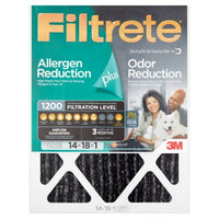 3M Filtrete Allergen Plus Odor Reduction Air and Furnace Filter, 14x18