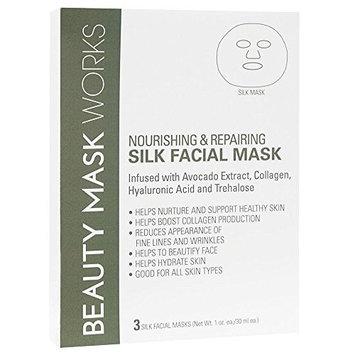 Beauty Mask Works Silk Fiber Nourishing and Repairing, 3 Count