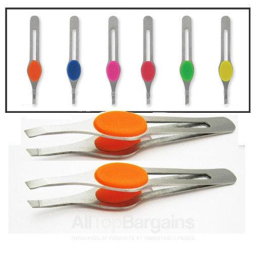 Atb 2 Stainless Steel Eyebrow Tweezer 4 Slanted Precision Tip Hair Tweezerette New