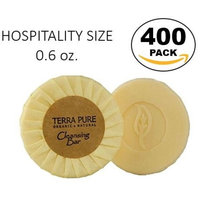 Terra Pure Bar Soap, Travel Size Hotel Amenities, 0.6 oz (Pack of 400)