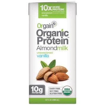 Orgain Organic Protein Unweetened Vanilla Almondmilk, 32 fl oz