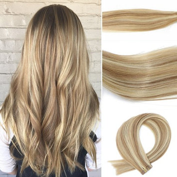Vario Tape In Human Hair Extensions 7A Silky Straight Skin Weft Human Remy Hair For Fashion Women (20 Inche 50g 20PCS #12P613)