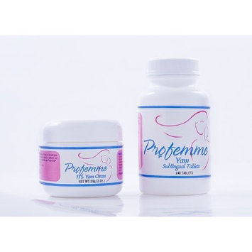 Natural Progesterone 2 oz. and Hot Flash Tabs 240 for women