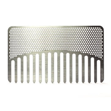 Go-Comb + Mirror - Brass Tile Hair Comb + Mirror - Fit For Your Wallet [Brass Tile Mirror]