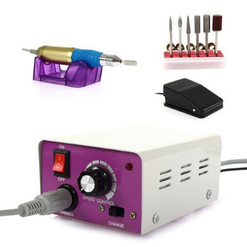 Besmall 110V Gel Polish Polish Machine Manicure Pedicure Electric Nail Drill with Foot Pedal