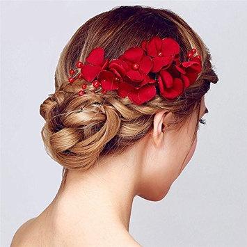 Handmade Flower Side Hair Comb Pearl Rhinestone Bridal Headdress Headpiece Wedding Hair Accessories