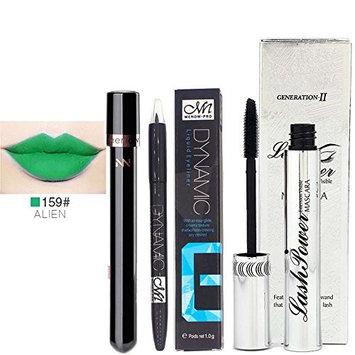 Waterproof Long Lasting Liquid Eyeliner Pen Lip Gloss Mascara Set by Baomabao