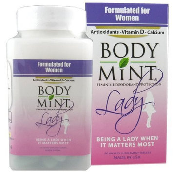 Body Mint Lady for Feminine Deodorant Protection 50 tabs [50]
