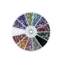 Start hereMASH Rhinestones 2400 Piece 12 Color Nail Art Nailart Manicure Wheels