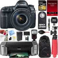 Canon EOS 5D Mark IV DSLR Camera w/ 24-105mm IS II USM Lens + PIXMA PRO Printer Bundle