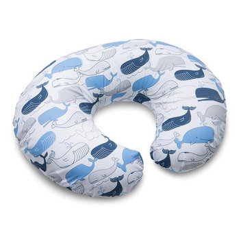Boppy Nursing Pillow and Positioner, Big Whale Blue and Gray