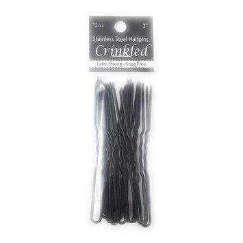 Marilyn Faye's U-Shaped Hair Pins Crinkled - 3in (Set of 12 U Pins)