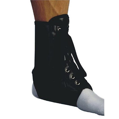 Living Health Products AZ-74-3154-S Vinyl Laceup Ankle Brace - Black Small