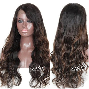 ZANA Ombre Lace Front Wigs Human Hair Wigs for Black Women Side Part Front Lace Wigs with Baby Hair