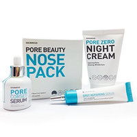 [SKINMISO-KOREA] SET - Pore Beauty Nose Pack Blackhead Care 3 Step System (10 Weeks Program) + Pore Corset Serum 30ml + Pore Zero Night Cream 80g + Spot Repairing Serum 30ml : Beauty