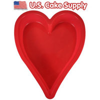 Uscakesupply Heart Shape SILICONE CAKE BAKING MOLD Bake Decorating Pan Valentines Day Love