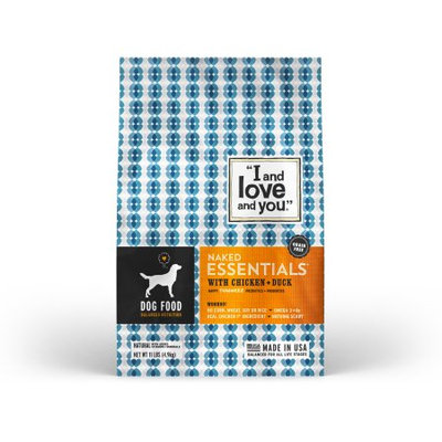I and Love and You Kibble Naked Essentials with Chicken & Duck Dog Food - 11.0 lb
